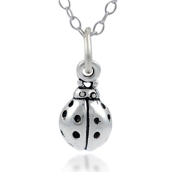 Journee Collection Sterling Silver Children's Ladybug Necklace
