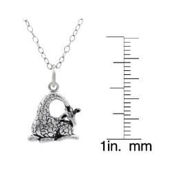 Tressa Sterling Silver Children's Giraffe Necklace