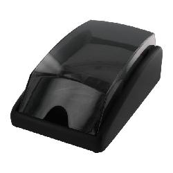 Rolodex WoodTones Covered 300-Business Card Tray