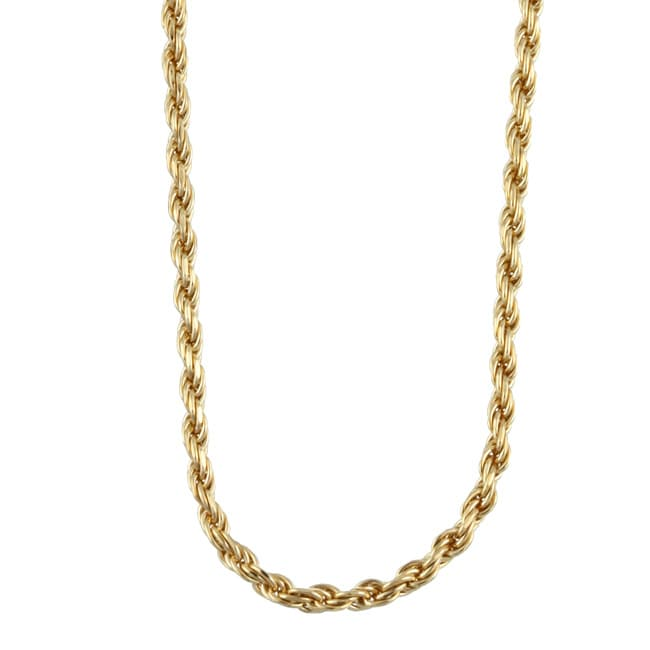 Sterling Essentials 14K Gold over Silver 2mm Diamond-cut Rope Chain (16-30 inch)
