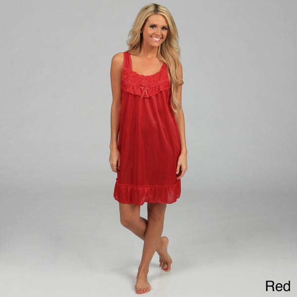 Happie Brand Women's Rosette Tricot Nightgown