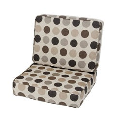 Kokomo Teak Lounge Chair Designer Cushion Set made with Sunbrella Fabric