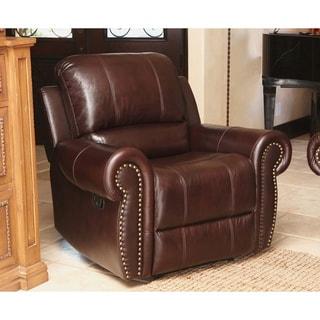 Abbyson Living Broadway Premium Top-grain Leather Reclining Armchair