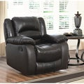 Abbyson Living Brownstone Premium Top-grain Leather Reclining Armchair