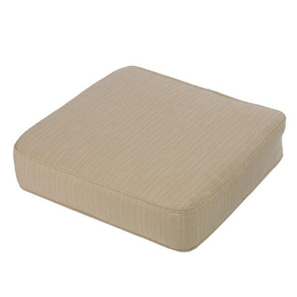 Kokomo Teak Indoor Outdoor Ottoman Cushion made with