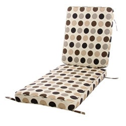 Teak Chaise Lounge Hinged Cushion made with Sunbrella Fabric