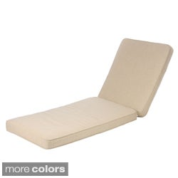 Kokomo Teak / Sunbrella Fabric Outdoor Sunlounger Hinged Cushion Set