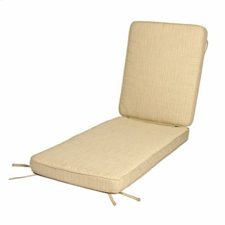 """Deluxe Teak Hinged Chaise Cushion with Sunbrella Fabric - 24""""W x 73""""L x 3""""H"""