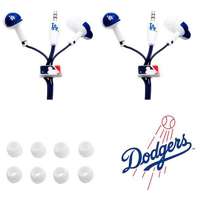 Nemo Digital MLB Los Angeles Dodgers Earbud Headphones (Set of 2)