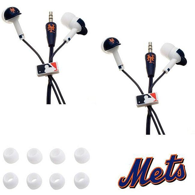 Nemo Digital MLB New York Mets Earbud Headphones (Set of 2)