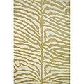Hand-tufted Safari Zebra Wool Rug (5' x 8')