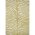 Alliyah Handmade Green New Zealand Wool Rug (5' x 8')