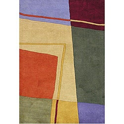 Hand-tufted Metro Angels Multicolor Wool Rug (8' x 10')