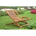International Caravan Royal Tahiti Yellow Balau Hardwood Lounge Chair