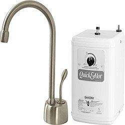 Satin Nickel Lead Free Instant Hot Water Dispenser and Heating Tank