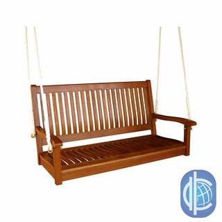 International Caravan Royal Tahiti Yellow Balau Hardwood Straight-back Two-seater Swing