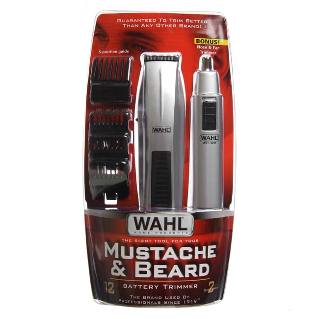 wahl 12 piece mustache and beard battery trimmer overstock shopping top rated wahl trimmers. Black Bedroom Furniture Sets. Home Design Ideas
