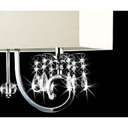 2-light Chrome Crystal Chandelier