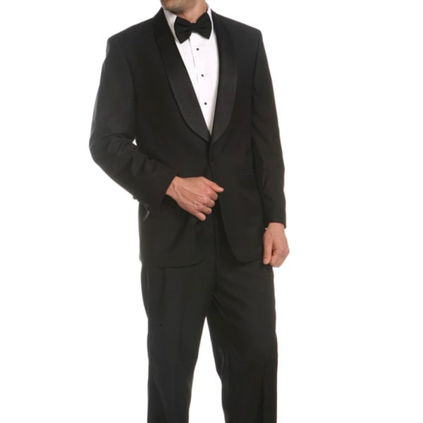 Ferrecci Men's Single-button Shawl-collar Tuxedo