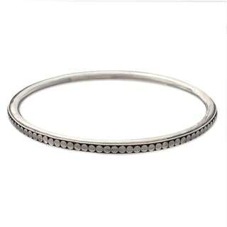 Sterling Silver 'Moon Silver' Bangle Bracelet (Indonesia)
