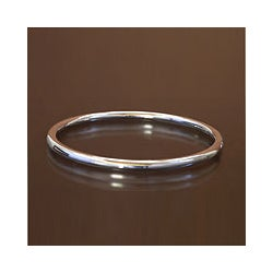 Sterling Silver 'Moon Glow' Bangle Bracelet (Indonesia)
