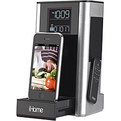 iHome iP39 Kitchen Timer and FM Alarm Clock Speaker System with iPod/iPhone Dock