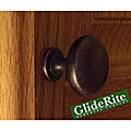 GlideRite Oil Rubbed Bronze Classic Round Cabinet Knobs (Pack of 100)