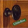 GlideRite Matte Black Classic Ring Cabinet Knobs (Pack of 100)