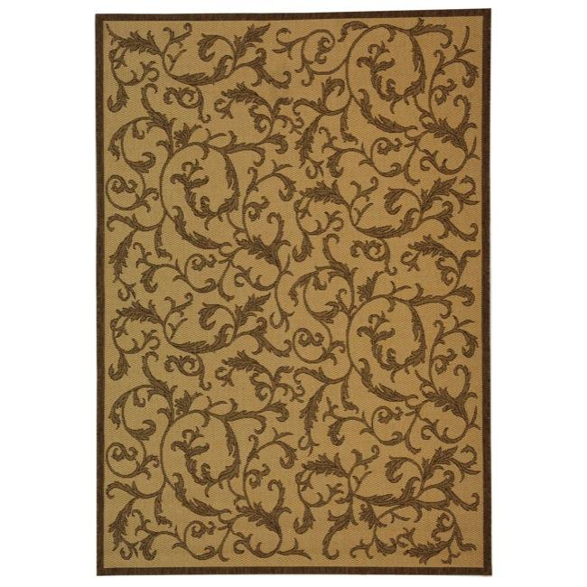 Safavieh Indoor/ Outdoor Mayaguana Natural/ Brown Rug (9' x 12')