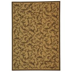 Indoor/ Outdoor Mayaguana Natural/ Brown Rug (9' x 12')