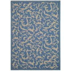 Indoor/ Outdoor Mayaguana Blue/ Natural Rug (9' x 12')