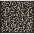 Safavieh Indoor/ Outdoor Mayaguana Black/ Sand Rug (6' 7 Square)