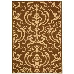 Safavieh Indoor/ Outdoor Bimini Chocolate/ Natural Rug (4' x 5'7)