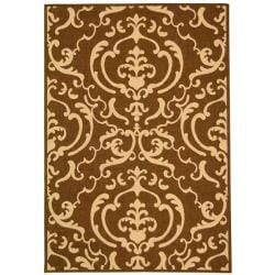 Indoor/ Outdoor Bimini Chocolate/ Natural Rug (9' x 12')