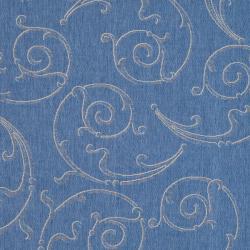 Indoor/ Outdoor Oasis Blue/ Natural Rug (9' x 12')