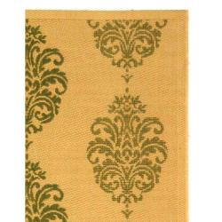 Indoor/ Outdoor St. Martin Natural/ Olive Rug (9' x 12')
