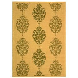 Safavieh Indoor/ Outdoor St. Martin Natural/ Olive Rug (9' x 12')