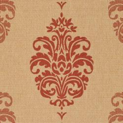 Safavieh Indoor/ Outdoor St. Martin Natural/ Red Rug (6' 7 Square)