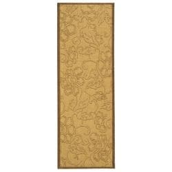 Indoor/ Outdoor St. Martin Natural/ Brown Runner (2'4 x 9'11)