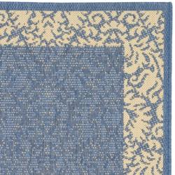 Indoor/ Outdoor Kaii Blue/ Natural Rug (9' x 12')