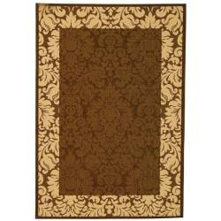 Safavieh Indoor/ Outdoor Kaii Chocolate/ Natural Rug (9' x 12')