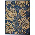 Indoor/ Outdoor Andros Blue/ Natural Rug (9' x 12')