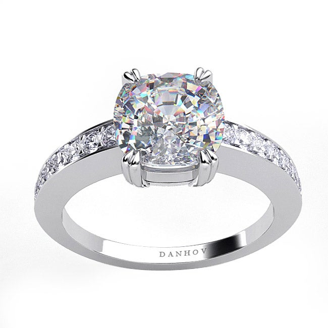 Danhov 18k Gold 1/5ct TDW Diamond and CZ Designer Ring (G, VS2)