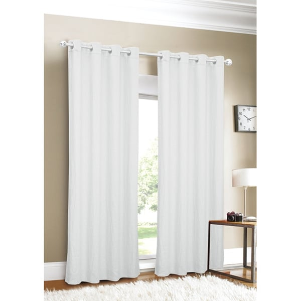 Luxury Linen Grommet Top 88-inch Curtain Panel