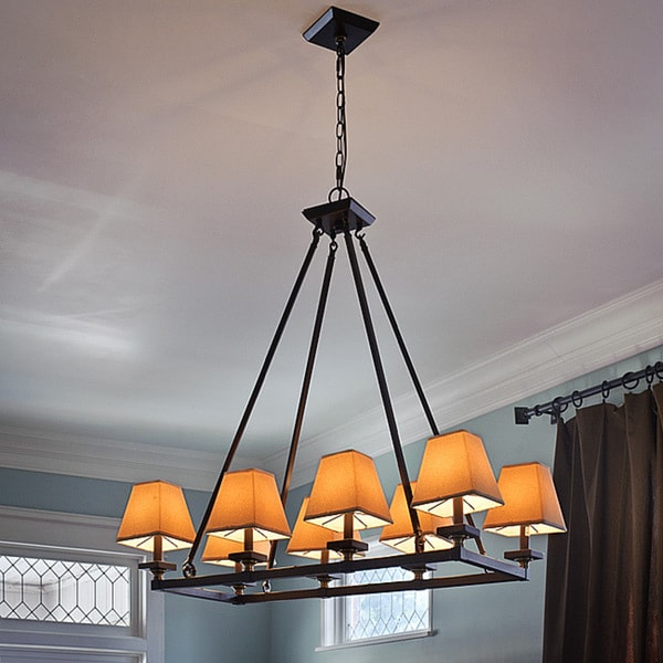 Indoor 8-light Bronze Chandelier