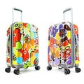 Olympia Blossom 25-inch Expandable Fashion Hardside Spinner Upright