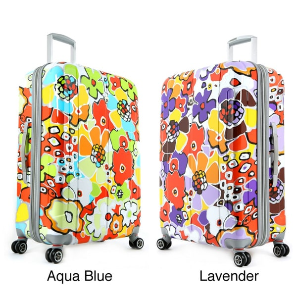 Olympia Blossom 29-inch Expandable Fashion Hardside Spinner Upright Suitcase