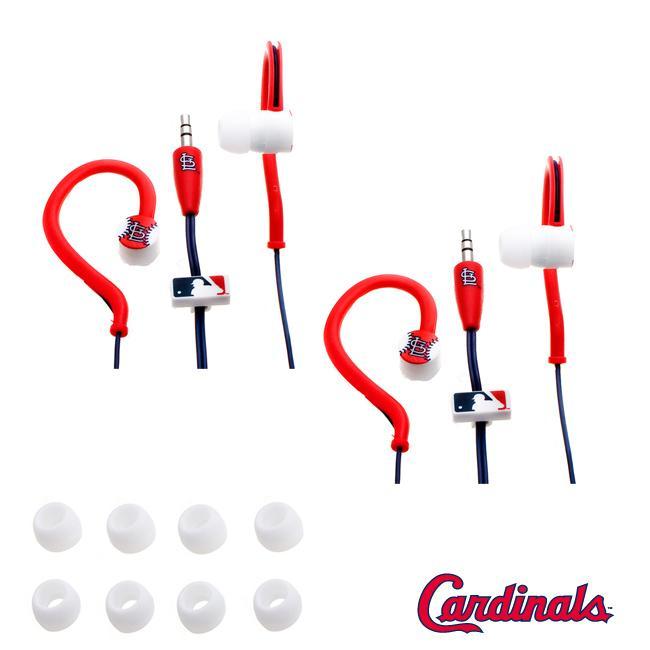 Nemo Digital MLB St. Louis Cardinal Jogger Earphones (Case of 2)