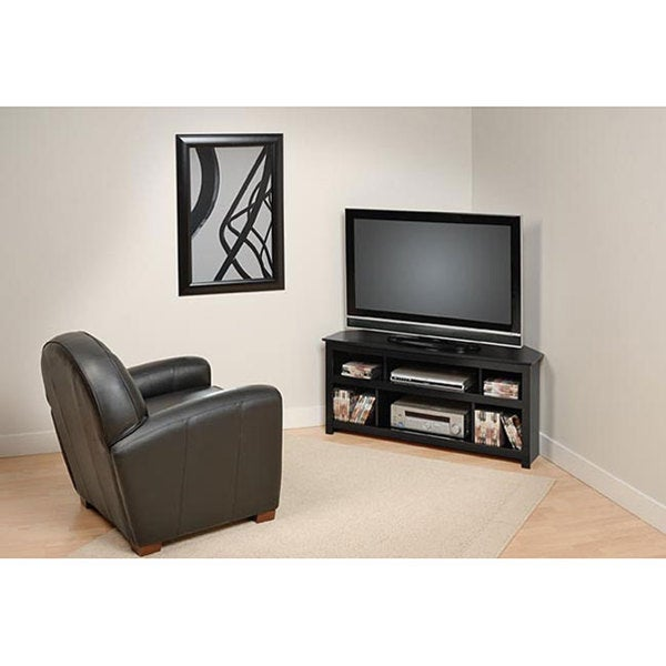 Broadway Black Corner Plasma/ LCD TV Console