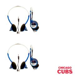 Nemo Digital MLB Chicago Cubs Overhead Headphones (Case of 2)
